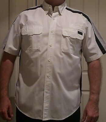 Mens Harley Davidson White Collared Shirt XL