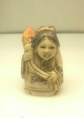 antique hand carved and signed chinese netsuke