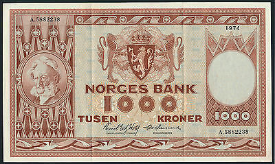 Norwegen / Norway 1000 Kronen 1974 Pick 35e (2) XF
