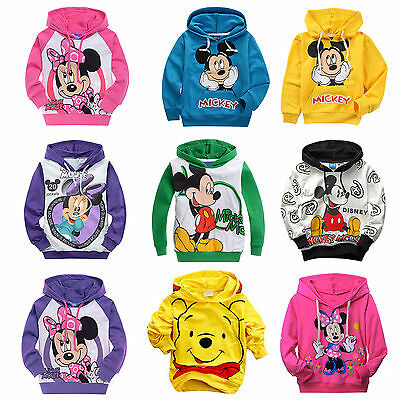 Boys Girls Casual Cartoon Mickey Minnie Mouse Kid Hoodie Sweatshirt Coat T-Shirt