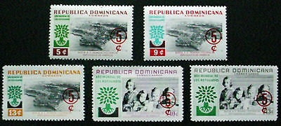 Dominican Republic 1960: World Refugee Year Fundwith Surcharges: Set Of 5 Mng: