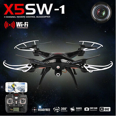 NEW  X5SW-1 6-Axis Quadcopter Drone Real Time WIFI Camera 2MP FPV RC Helicopter