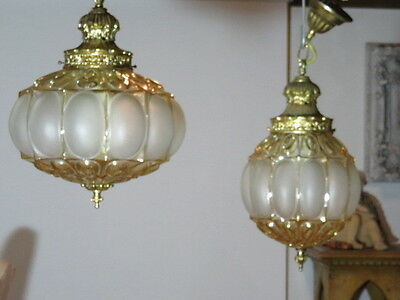 Very High Quality Vintage Ceiling Lights Two Matching Big & Small Moroccan