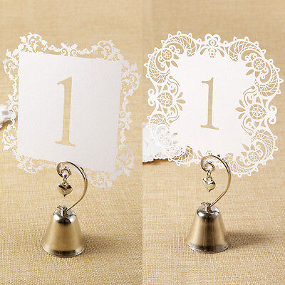 20pcs Laser Cut Table Seat Number Card for Wedding Party Home Decoration
