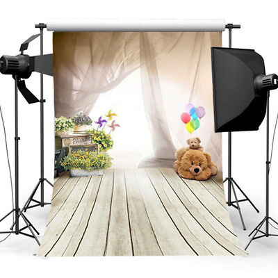 5x3FT Baby Balloon Flowers Photography Backdrops Studio Props Photo Background