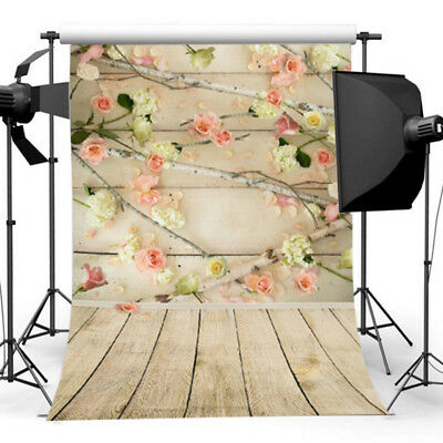 5x3FT Rose Flowers Theme Photography Backdrops Studio Props Photo Background NK