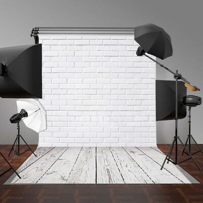5x3FT White Brick Wall Indoor Photography Backgrounds Vinyl Photo Backdrops Prop