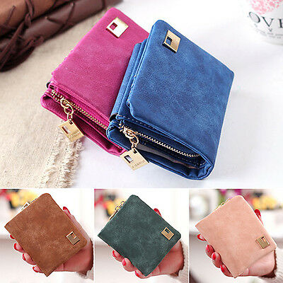 Women Pu Leather Zipper Hasp Short Clutch Wallet Coin Purse Card Handbag Ornate