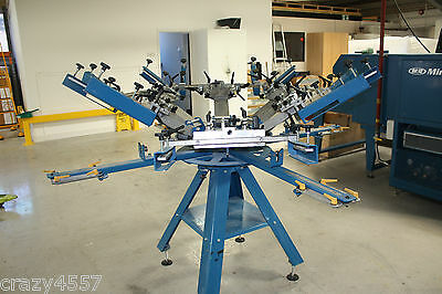 M & R 6 station - 4 colour KRUZER manual press hardly used