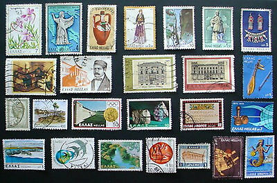 Greece: Collection Of 25 Used Stamps:  Lot 2