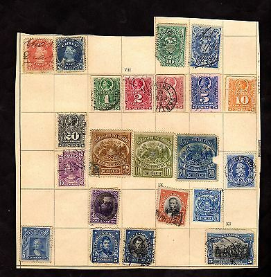 Stamps ~ CHILE CHILEAN ~ Unsorted VERY EARLY