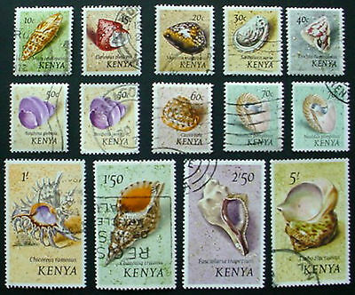 Kenya 1971: Sea Shells: Short Set Of 14 Used Stamps