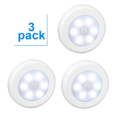 Amir Motion Sensor Light (6 LED 3 Pack) Wireless Battery Powered LED Night Light