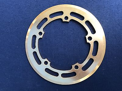 NOS Supermax Old School Bmx Chain Ring Guard Gold Anodised
