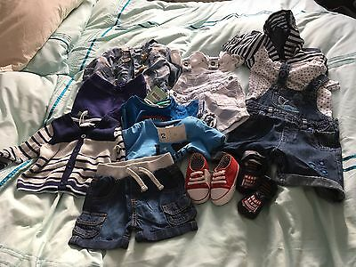 Baby Boy Bundle 13 Items Branded Clothes Age 0-3 Months NEW And Used