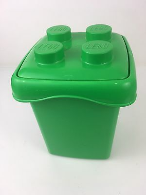 Official LEGO Duplo Box EMPTY TUB Green Pin Lid - Minifigure Brick Storage