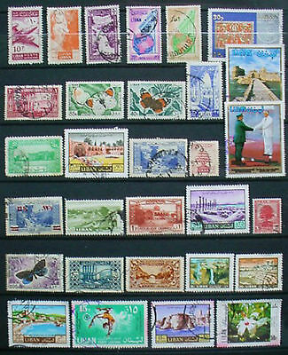 Lebanon: Collection Of 30 Used Stamps: Lot 11