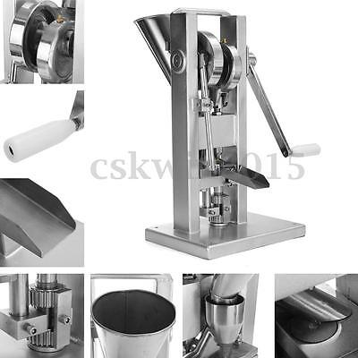 Manual Single Punch Tablet Press Pill Pellet Making Machine with Hopper Maker