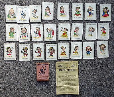 Vintage Happy Families John Jaques The Old Original Card Game with Instructions