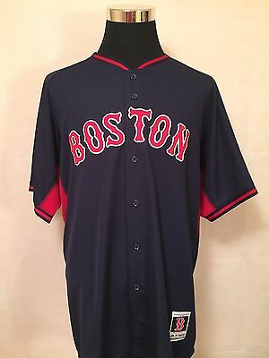 MLB Boston Red Sox 52/XL On-Field Batting Practice Cool Base Jersey by Majestic