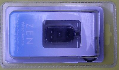 Creative Zen wired remote control, black, new and boxed