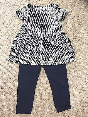 M&S Toddler Girls Summer Outfit Age 12-18 Months- Excellent Condition