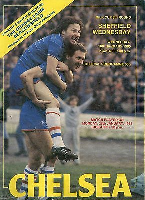 CHELSEA  v  SHEFF WED  (LC)    84/5