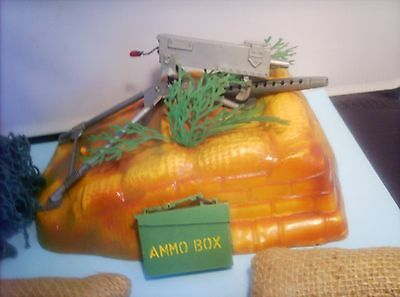 Action man machine  gun post