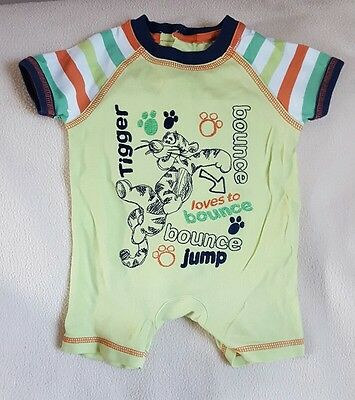 boys tigger sleepsuit 0 - 3 months from disney at george
