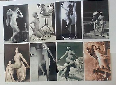 lote de 8 Fotos 10x15 Erotic Art Vintage