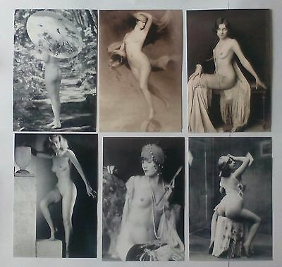lote de 6 Fotos 10x15 Erotic Art Vintage
