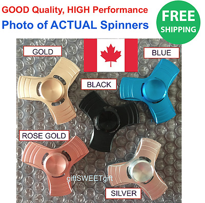 1 x  High Quality FIDGET SPINNER Metal Aluminum Stress Relief FREE SHIP CANADA