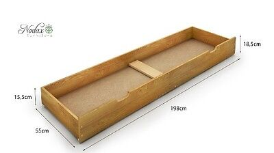 Solid Pine Under Bed Storage Drawer on Wheels Brand New -Easy Assembly HALF RPP