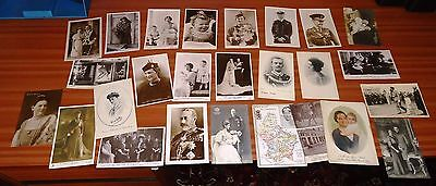 ROYALTY Foreign And British REAL PHOTOGRAPHIC Postcards BUNDLE Lot (107)
