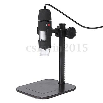 5V 8 Led Usb Digital Microscope Endoscope Magnifier Camera + Lift Stand 1X-500X