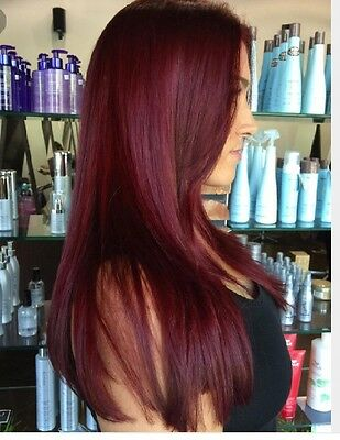 "Clip In Hair Extensions 18"" Burgundy  Straight Full Head #Bug Thick"