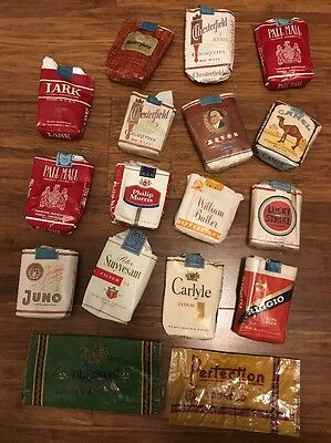 Lot of 17 Mixed Vintage Empty Soft Cigarette Packet (#4)