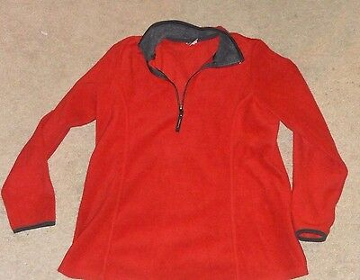 Womens Red Fleece Maternity Old Navy Jacket Size Large