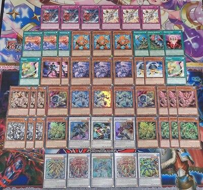 Yugioh 43X Card Crystron Deck + 8X Card Synchro Deck (3For2)