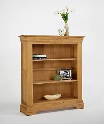 Beautiful Solid Oak Wood Normandy Oak 3' Bookcase - French Style - New In!