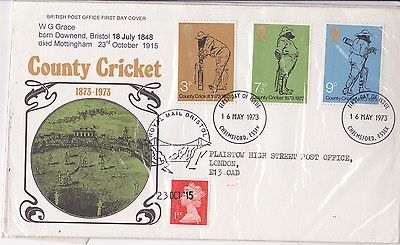 1997 cricket FDC first day cover Glos WG Grace 100 years since his death Bristol