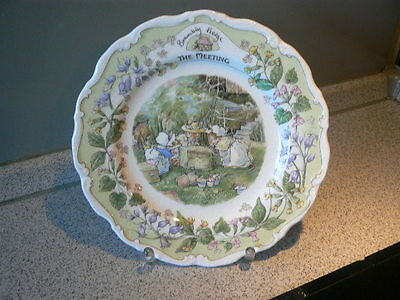 "1 x Wandteller Royal Doulton "" The Meeting - Brambly Hedge "" Ø: 21 cm englisch"