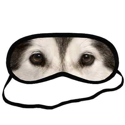 ALASKAN MALAMUTE EYES Dog Puppy Lovers Small-Med Size Black SLEEP MASK Gift