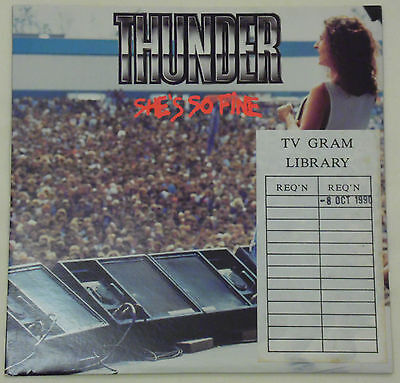 "Thunder - She's So Fine 7"" Vinyl - 1990 EMI Records - Excellent Condition"