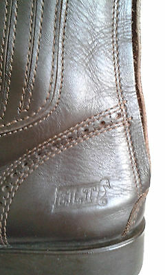 womens chelsea leather lace up  boots size eur 38 /25 cm/
