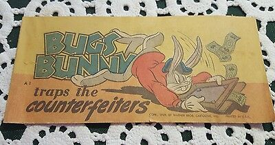VINTAGE ♡ QUAKER PUFFED RICE ♡ BUGS BUNNY traps the COUNTERFEITERS COMIC BOOK