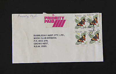 1984 BRISBANE QLD priority paid 4x 30c butterfly commercial cover