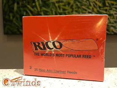 Rico Alto Clarinet Reeds - Box of 25, Strength Number 2