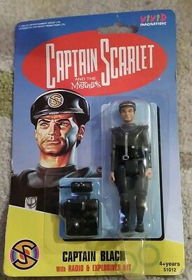 Captain Scarlet And The Mysterons Captain Black Figure By Vivid New + Sealed