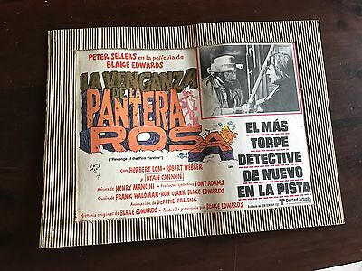 Revenge Of The Pink Panther Mexican Lobby Card PETER SELLERS Poster
